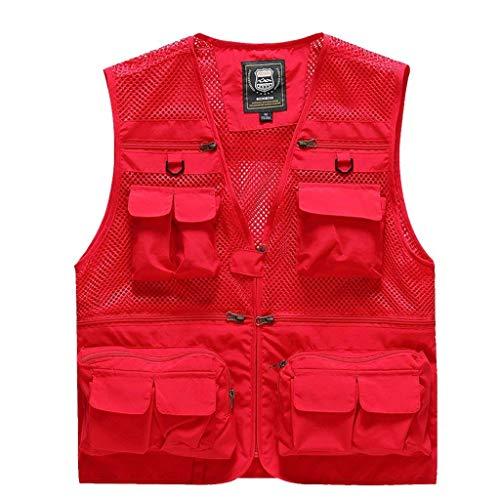 Los con D Chaleco De Saoye Hombres De Chaqueta Nner Múltiples De Chaleco Pesca Fashion Gilet R Verano Ropa Bolsillos Nne Chaleco Rojo Camo Chaleco F ppq0wa16