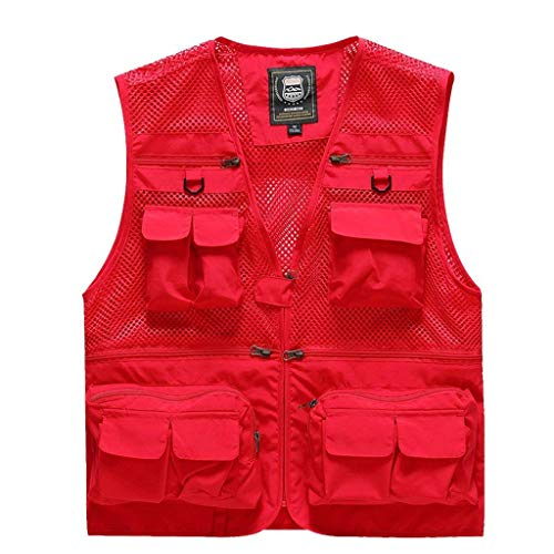 Hombres Rojo Bolsillos Chaleco Nner con De D Chaleco Saoye Chaleco Gilet F Fashion Los R Chaqueta Ropa Chaleco Camo Pesca Verano Múltiples De De Nne qRT4Sw