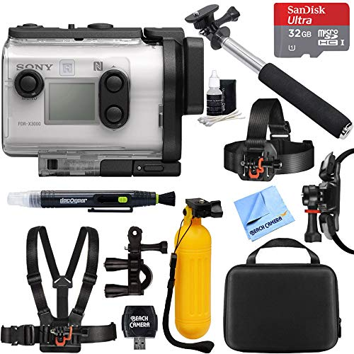 Sony FDR-X3000 4K Wi-Fi GPS Action Camera with Balanced Optical SteadyShot + 32GB Outdoor Adventure Mounting Bundle Review