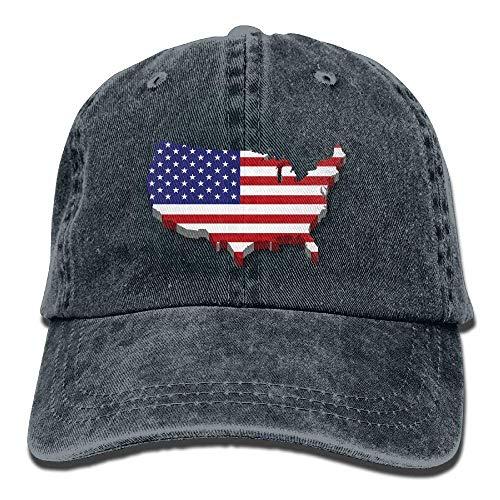 Us for Men Cowgirl Sport Women Skull Cap Flag Cowboy Hats DEFFWB Hat Denim OAwvqO5U