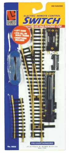 Life-Like Trains  HO Scale Conventional Track - Left Hand Remote Switch