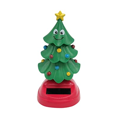 SHZONS Solar Swinging Christmas Tree Dancing for Car Interior and Home Decoration Kids Toys Gift: Home & Kitchen