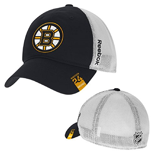 (Reebok Men's NHL Center Ice-Team-Mesh Back-Stretch Fit Hat/Cap-Boston Bruins-Small/Medium)