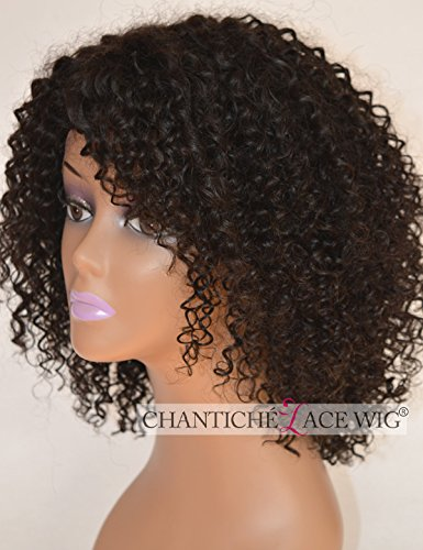 Chantiche-Short-Kinky-Curly-Human-Hair-Wig-35-Invisible-Right-Side-Deep-Parting-Glueless-Brazilian-Remy-Hair-Lace-Wigs-for-Black-Women-130-Density-Natural-Color-14Inch