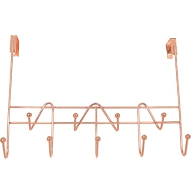 Superbpag Over The Door Hooks Rack Organizer for Hanging Coats, Hats, Robes, Clothes or Towels - 9 Hooks