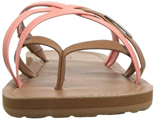 Fashion Strap Coral Flat Happy Sandal Multi Women's Volcom tqnwf4IRn