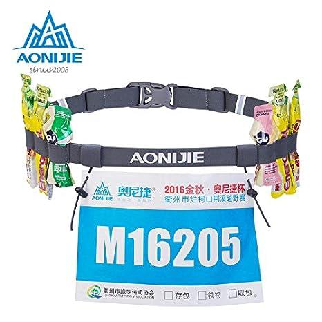 elegantstunning Leicht L/äufer Race Startnummer G/ürtel mit 6/Schlaufen Ideal f/ür Triathlon Laufen Radfahren Marathon