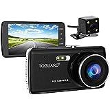 TOGUARD Dual Lens Dash Cam front and rear recording ATST, 4.0 IPS Screen,HD 1080P Car Dash Camera, Rearview Backup Camera,130 Degree Wide Angle, WDR, Loop Recording, G-sensor, Parking monitor