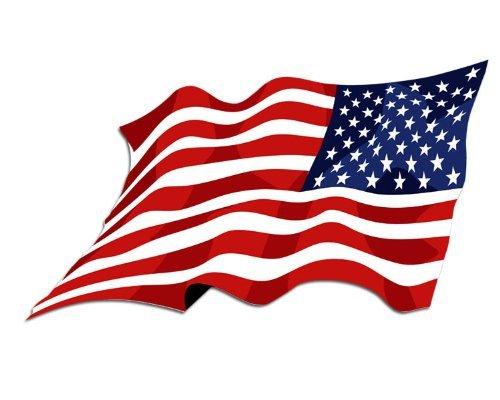 Amazoncom Reverse Waving American Flag Sticker Automotive