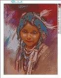 Zimal American Natives Indian Little Girl 5D DIY