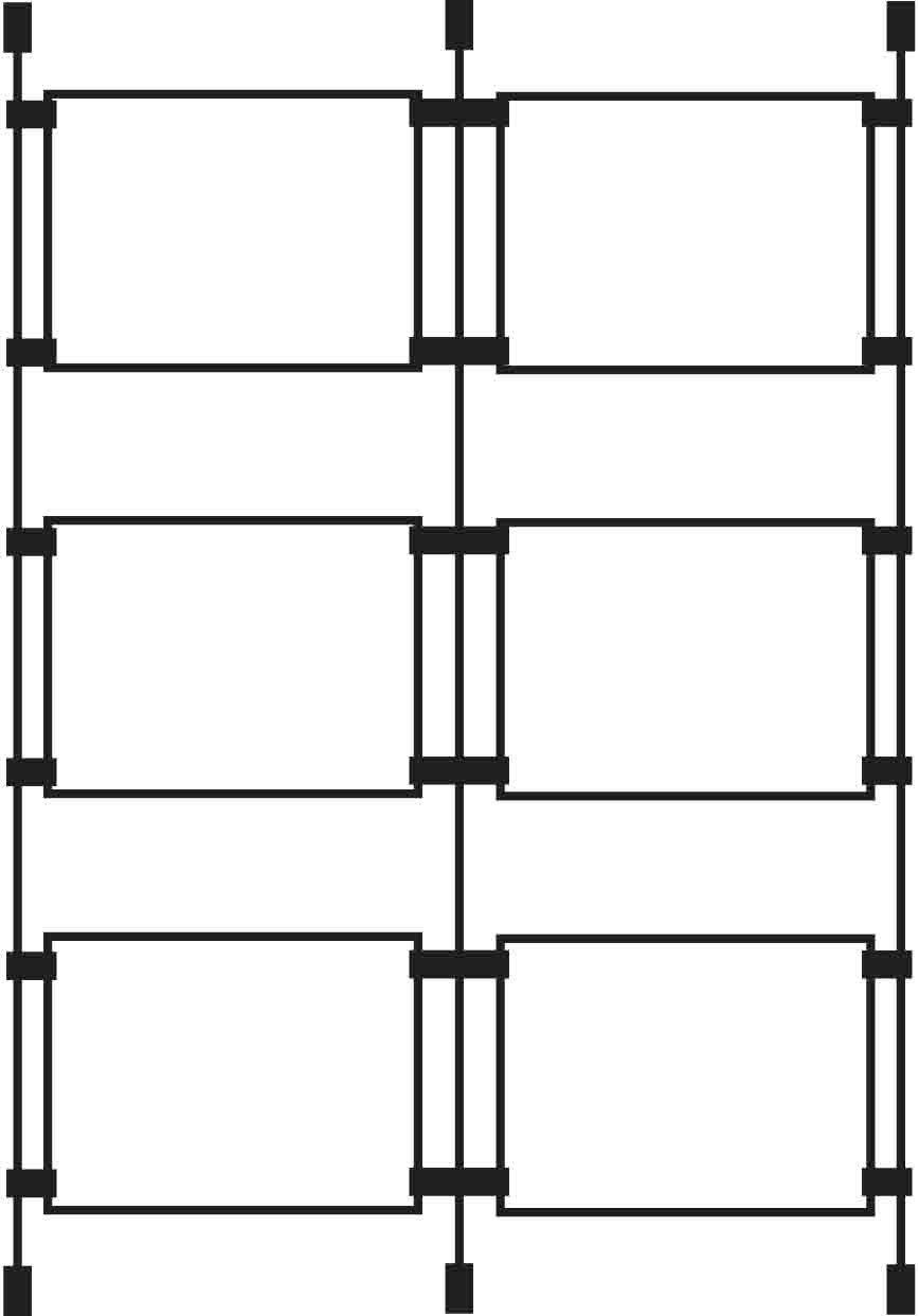 3XA3 orizzontale, X2-Cavo per finestra Plasticraft Displays Ltd