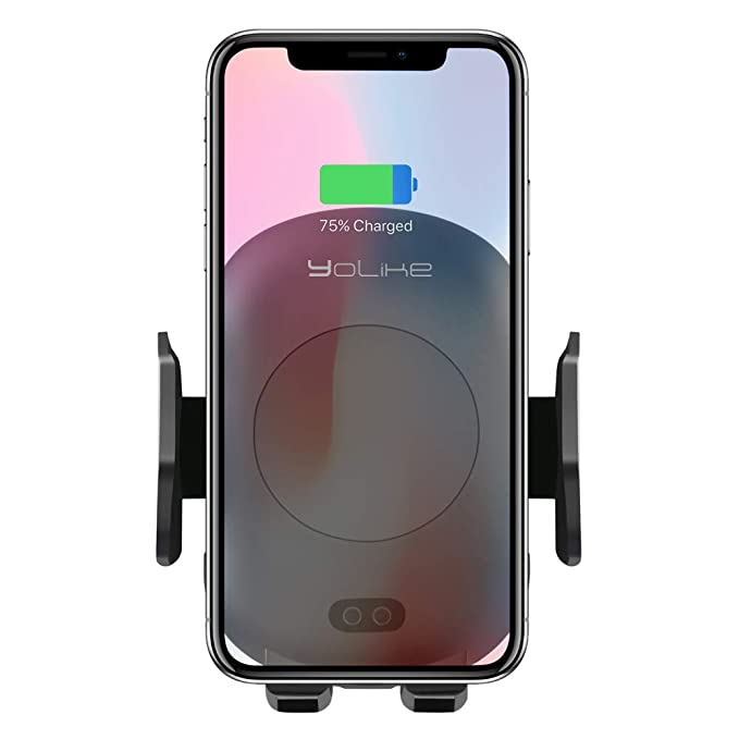 new product a9fe4 5dde1 Wireless Car-Charger Mount C10B Cradle for iPhone Xs,Xs max,Xr,X,iPhone 8/8  Plus,Samsung Note9 S9 S9 Plus Note 8 S8/S8 Plus Yolike Qi Car Mount