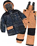 Deux par Deux Boys' 2-Piece Snowsuit Hey Mr Dj Brown, Sizes 4-14 - 14