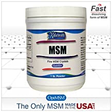 MSM Powder (OptiMSM) Fast Dissolving Fine Crystals (454 grams = 1 Lb) - Pure MSM for Joint, Skin, Nail and Hair Health. The ONLY Methylsulfonylmethane made 100% in the USA and the world's purest, quadruple-distilled MSM. Designed to dissolve quickly in cold or warm drinks. This Natural, Organic Product is 99.9% Pure and Free of Any Additives.