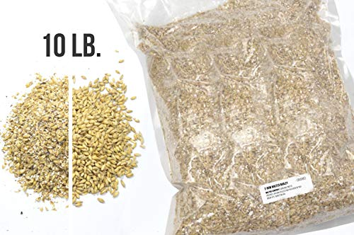 RAHR 2-Row Malted Barley 10 LBS CRUSHED Home Brewing Beer Making Recipe Ingredients Vacuum Sealed