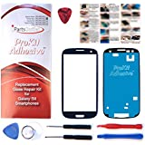 S3 ProKit for Samsung Galaxy S3 Pebble Blue Replacement Screen Glass Lens Kit S3 i9300 I747 T999 i535 s3 prokit adhesive with SlyPry Opening tool