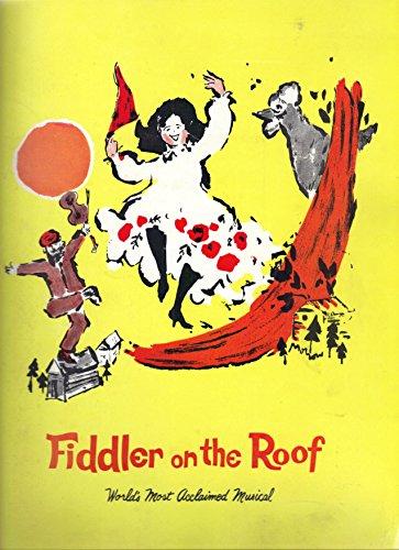 Fiddler On The Roof Most Acclaimed Musical Souvenir Programm Harold Prich  Mimi Randolph Original Broadway Cast 1967