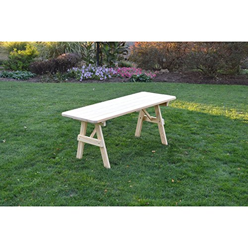 Kunkle Holdings LLC Unfinished Picnic Table in Pressure Treated Pine 4 feet 4 - Pressure Treated Picnic Table
