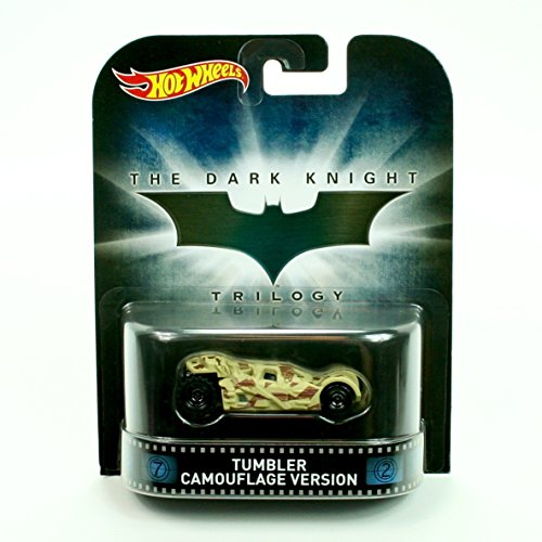 BATMAN'S TUMBLER CAMOUFLAGE VERSION from the THE DARK KNIGHT TRILOGY Hot Wheels 2015 Retro Entertainment Series 1:64 Scale Die Cast (Dark Knight Robin)