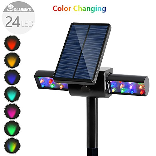 Pc Color Changing Solar Lights Set: Solar Lights,Solarmks USB Color Changing LED Solar Powered