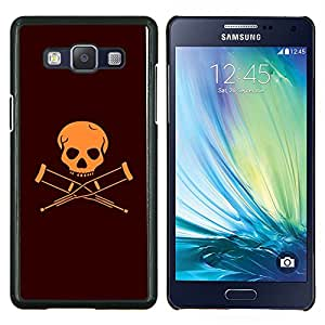 "For Samsung Galaxy A5 ( A5000 ) 2014 Version , S-type Discapacitados Bandera cráneo"" - Arte & diseño plástico duro Fundas Cover Cubre Hard Case Cover"