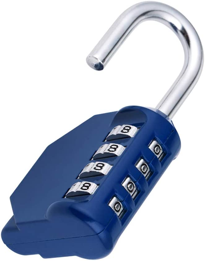 ZHEGE Combination Locker Lock, 4 Digit Outdoor Padlock for Gym, School, Gates, Doors, Fence, Hasps and Storage - -