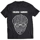 mazumi8 Childish Gambino cartoon Rapper Hiphop T-Shirt Size L Black