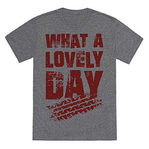 What A Lovely Day Heathered Gray Small Mens/Unisex Fitted Triblend Tee by (Mad Max Nux)