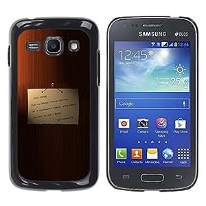 EJOY---Cubierta de la caja de protección la piel dura para el / Samsung Galaxy Ace 3 / --Memo en la puerta de mi querido