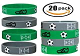 20 pc Soccer Wristband Party Favors (Soccer, Kids)