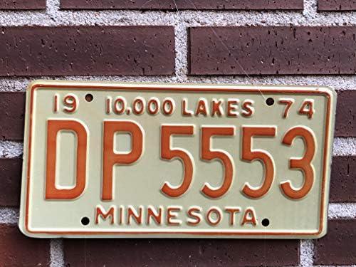 Desconocido Matrícula Americana Original (Estados Unidos) Estado de Minnesota Retirada de la Circulación Año 1974: Amazon.es: Coche y moto