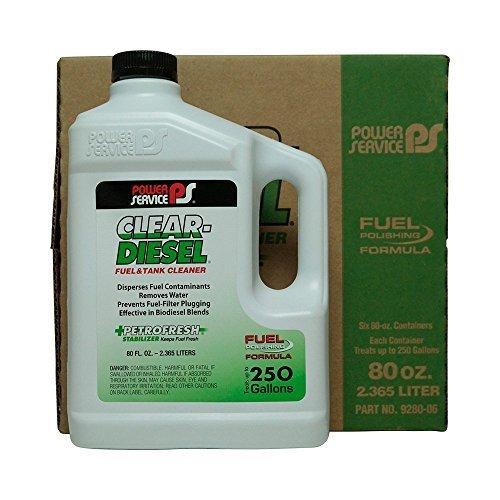 Power Service Clear Diesel – 6/80oz. Bottles