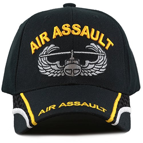 Assault Cap (The Hat Depot Official Licensed US Army 3D Military Gold Logo Baseball Cap With Mesh detail (Air Assault))