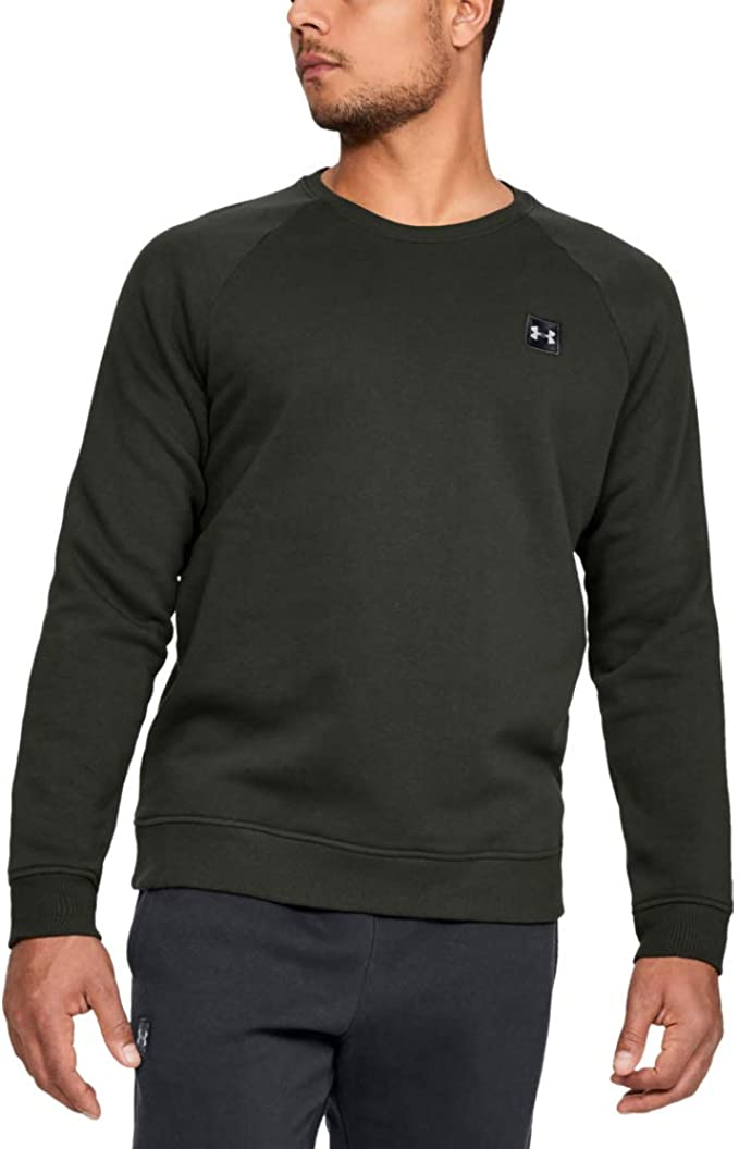 Comfortable /& Breathable Long Sleeve Fleece Under Armour Rival Fleece Crew Mens Pullover Made With Fast-Drying Fabric Men