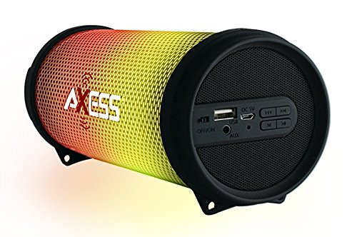 Axess Dancing LED Lights HiFi Bluetooth Rechargeable Speaker