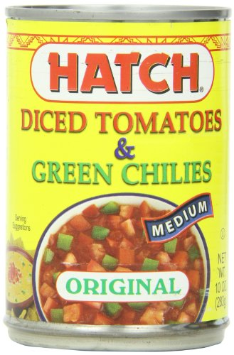 Hatch Tomatoes Diced with Green Chilies, Medium, 10-Ounce (Pack of 12)