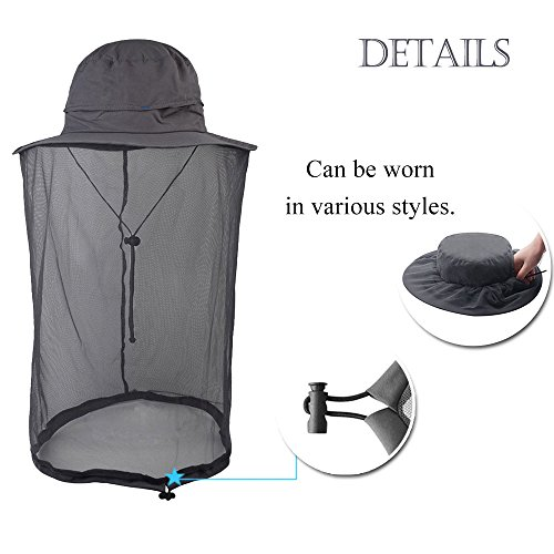 DiDaDi Mosquito Net Head Hat 51c68b50d9f1