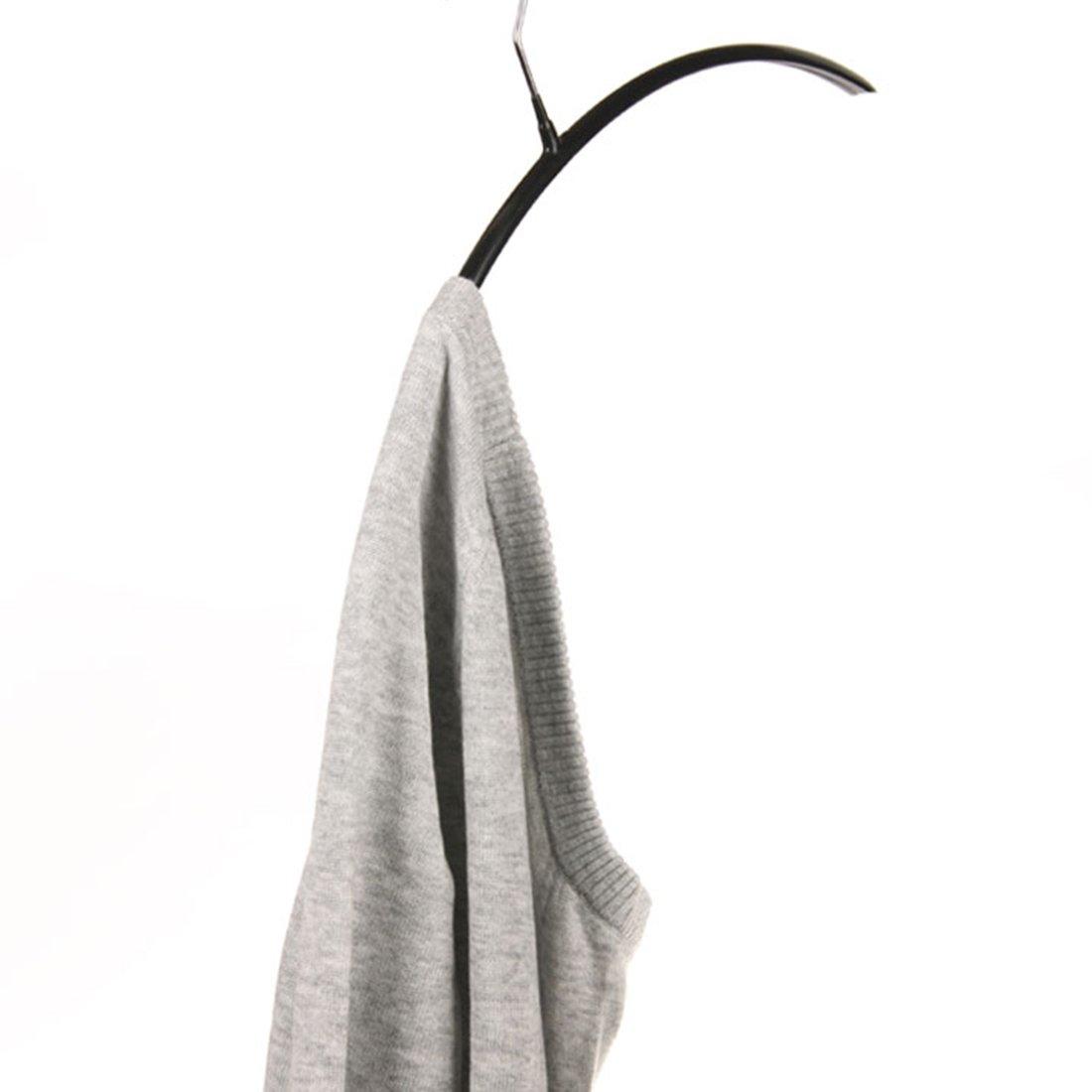 Tebery 10 x Metall Kleiderb/ügel mit festem haftungsbeschichtet Garderobenb/ügel Set rutschfest schwarz