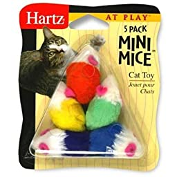 Hartz 95986 At Play™ Mini Mice™ Cat Toy 5 Count Assorted Colors