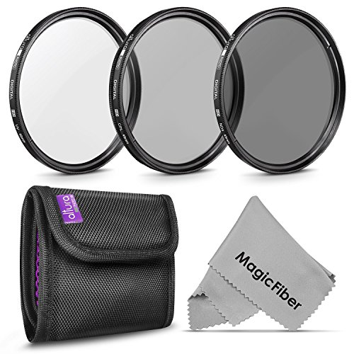 49MM Altura Photo Professional Photography Filter Kit (UV, CPL Polarizer, Neutral Density ND4) for Camera Lens