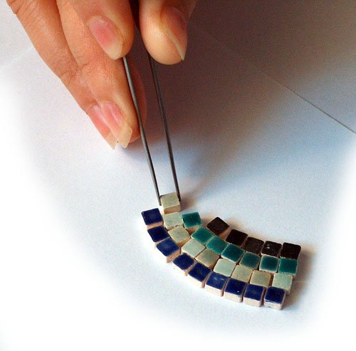 Pinza Recta de Acero Inoxidable Alea Mosaik