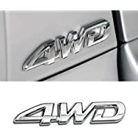 BYWWANG Car 3D Letter Metal Sticker Four Wheel Drive Logo 4WD Badge Car Trunk Decoration Accessory