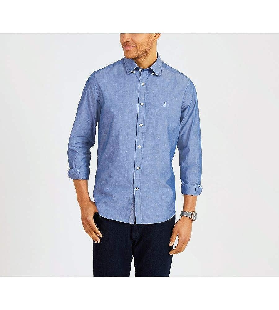 Nautica Long Sleeve Printed Button Down Shirt