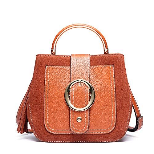 GUANGMING77 _Tasche Tasche Und Die Erste Schicht Des Tragbaren Schulter Diagonal Weiblich Caramel color FSBPg