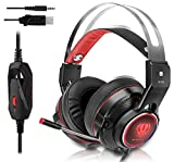 Gaming Headset for Xbox One, PS4, Surround Stereo Sound, Nintendo Switch, 3.5MM Wired Over-ear Headphone with Microphone and Volume Control for PC, Laptop, iPad, Phone(Red) Review
