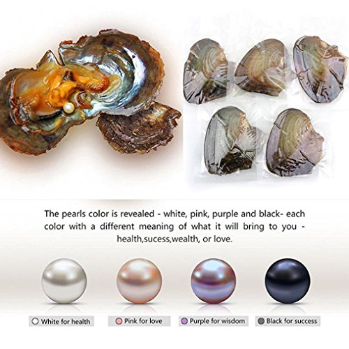 Hot Sale Gift! AMA(TM) 10Pcs 7-8mm Oysters with Large Oval Pearl inside Birthday Gifts (10Pcs) (Ladies Snowman Costume)