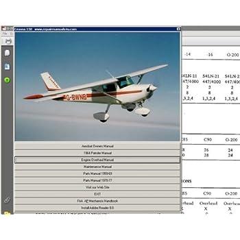 Amazon com: Cessna 150 Service Repair Maintenance Library +
