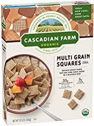 Cascadian Farm Organic Multi Grain Squares Cereal 12.3 oz