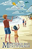 Monterey Bay, California - Kite Flyers (24x36 Giclee Gallery Print, Wall Decor Travel Poster)