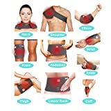 Multi-Purpose Electric Heating Pad, Far Infrared Heat Therapy Wrap Support for Necks, Shoulders, Ankles, Wrists, Lower Back, Abdomen, Elbow, Knee